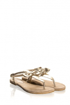Maluo |Leather sandals Fabia | gold
