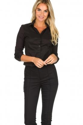 Set |  Classic stretch blouse Maxime | black
