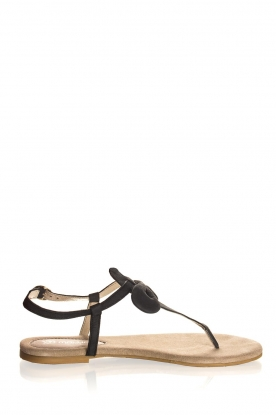 Maluo | Leather sandals Fabia | black