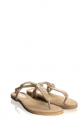 Maluo | Leather sandals Gisella | beige