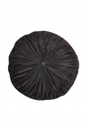 Little Soho Living |  50x50 Round velvet cushion Filipa | grey