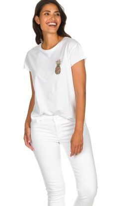 Set |  T-shirt with print Maya | white