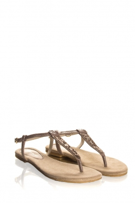 Maluo | Leather sandals Marina | grey