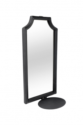 Little Soho Living |  Wall candle holder with mirror Black Wall | black