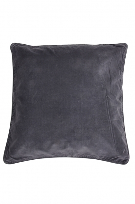 Little Soho Living |  50x50 Velvet cushion cover Adiv | charcoal grey