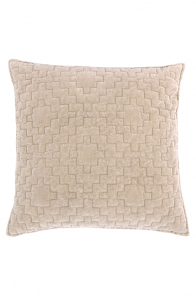 Little Soho Living |  50x50 Velvet cushion cover Saffi | beige