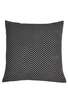 Little Soho Living |  50x50 Zigzag cushion cover Bay | black