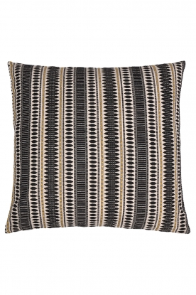 Little Soho Living |  60x60 Embroidered cushion cover Della | black & white