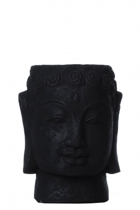 Little Soho Living |Stenen Buddha pot Dolan | zwart