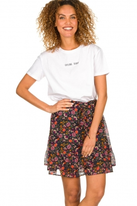 Set | Rok met bloemenprint Marty | print