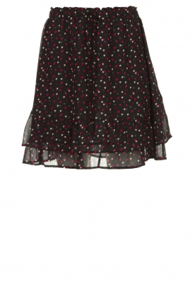 Set |  Heart printed skirt Mies | black