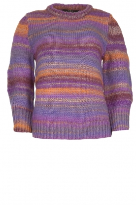 Set |  Knitted sweater with lurex Meggy | purple