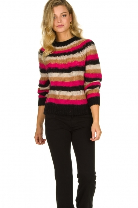 Set |  Striped sweater Mawa | black
