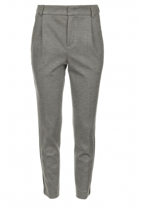 Set |  Melange trousers Mosy | grey
