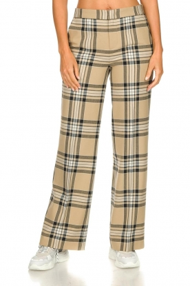 Set |  Checkered trousers Murielle | camel