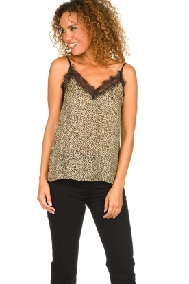 Set |  Sleeveless top with leopard print Maui | animal print