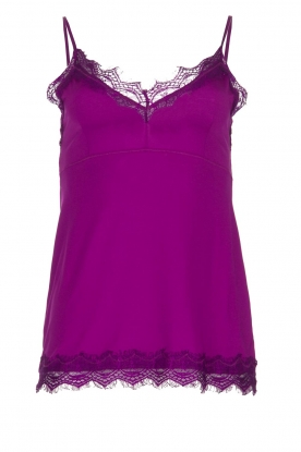 Set |  Sleeveless top with lace Chenna | purple