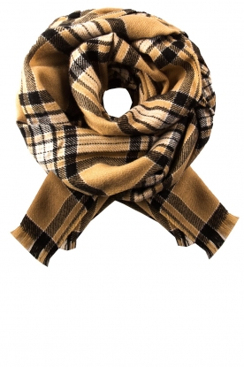 Set |  Checkered scarf Mila | brown