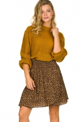 Les Favorites | Skirt with leopard print | Fleur