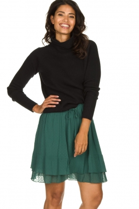 Les Favorites |  Dotted ruffle skirt Marli | green