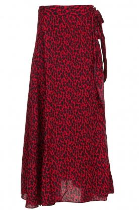 IRO |  Leopard printed maxi skirt Tanaka | red