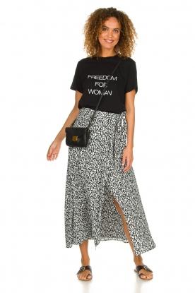 IRO |  Leopard printed maxi skirt Tanaka | black & white