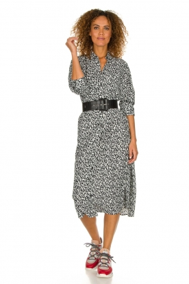 IRO |  Leopard printed maxi dress Pirae | black & white