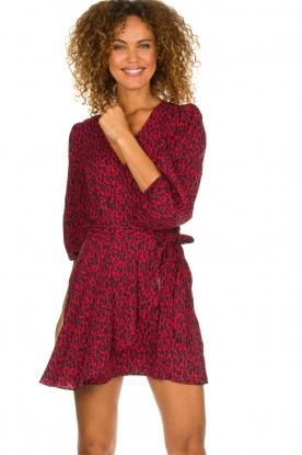 IRO |  Leopard printed dress Boina | red