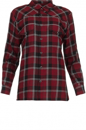 IRO |  Plaid blouse Robbye | red