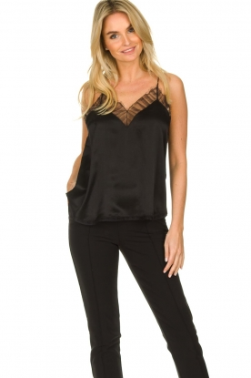 IRO |  Silk top Berwyn | black