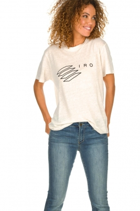 IRO |  T-shirt with logo print Lucie | natural