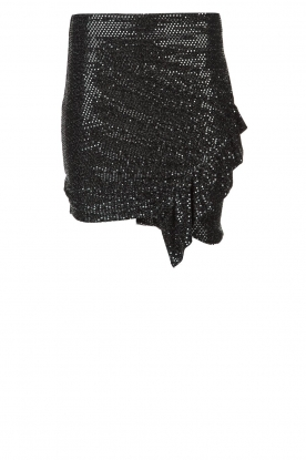 IRO |  Glitter skirt Lillie | black