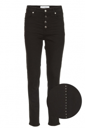 IRO | Skinny jeans met studs Gaetus | zwart