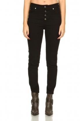 IRO |  Studded skinny jeans Gaetus | black