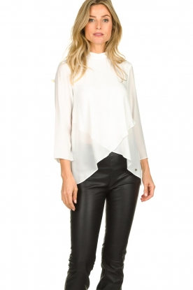 Kocca |  Asymmetric blouse Dominga  | white