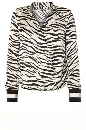 Kocca |  Zebraprint blouse Parsyf | animal print