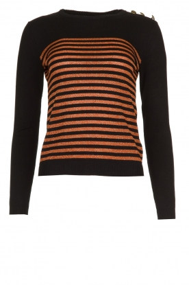 Kocca |  Striped glitter sweater Luk | camel