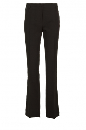 Kocca |  Trousers with shimmering stripes Cland | black
