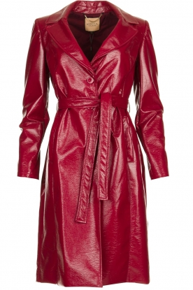 Kocca |  Lacquer trench coat Kicca | red