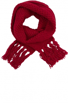 Kocca |  Knitted scarf Ailin | red