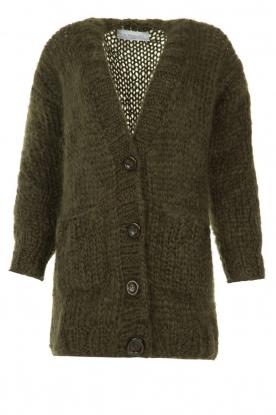 Les tricots d'o |  Woolen vest Forrest | green