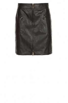 Atos Lombardini | Faux leather skirt Scarlett | black