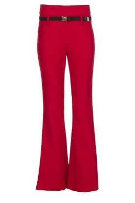 Atos Lombardini |  Flared trousers Rocky | red