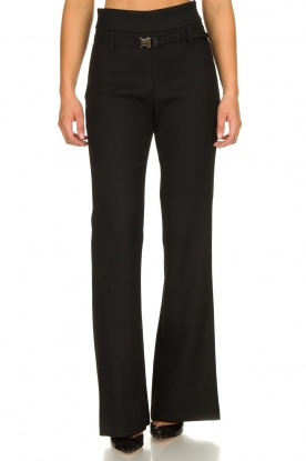 Atos Lombardini |  Flared trousers Rocky | black