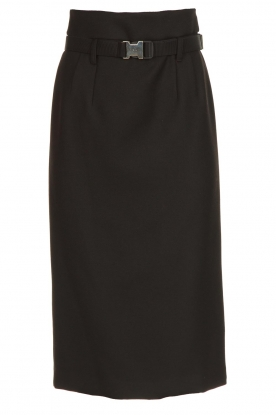 Atos Lombardini |  Midi pencil skirt Jaelle | black