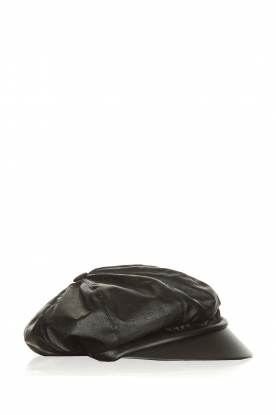 Atos Lombardini |  Faux leather sailors cap Kylie | black