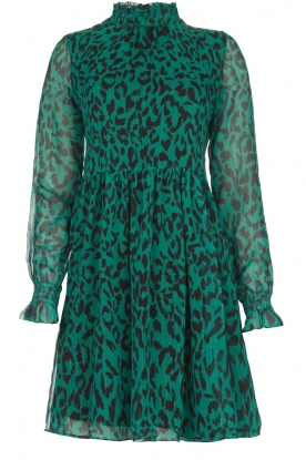 Freebird |  Dress with leopard print Katie | green