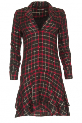 Freebird |  Checkered dress Marilyn | black