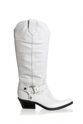 Janet & Janet | Leather boots Amanda | white