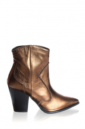 Janet & Janet | Leather boots Tonia | metallic